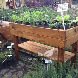 Huerta dos tablas con estante web