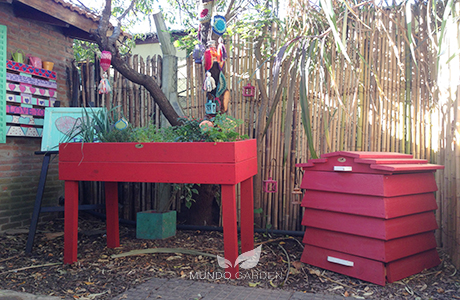 huerta colorada y compost modular mundo garden