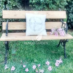 banco de plaza mundo garden madera reciclada y almohadon web