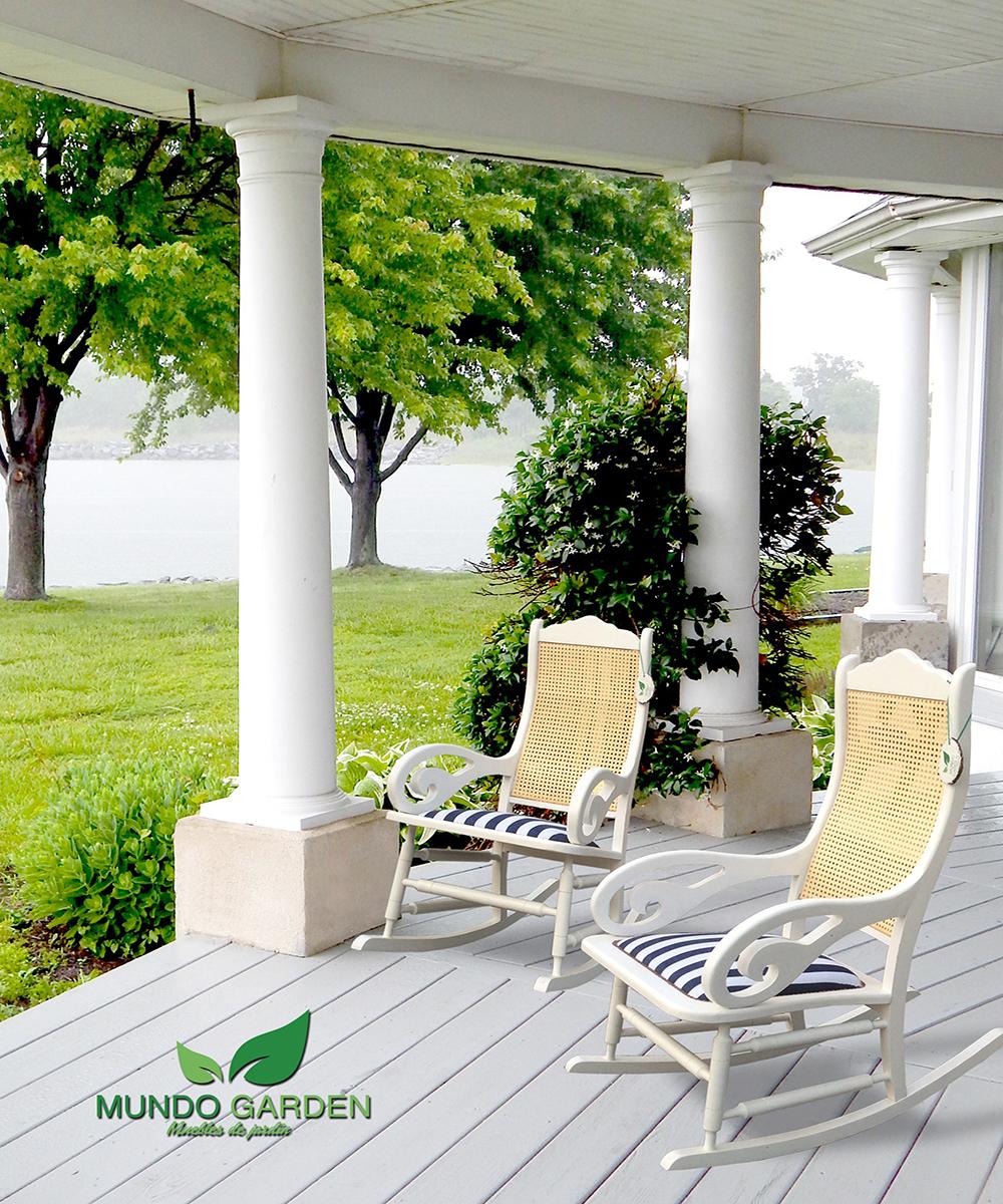 Mecedoras de jardin perfect mecedora blanco shabby chic for Mecedora terraza