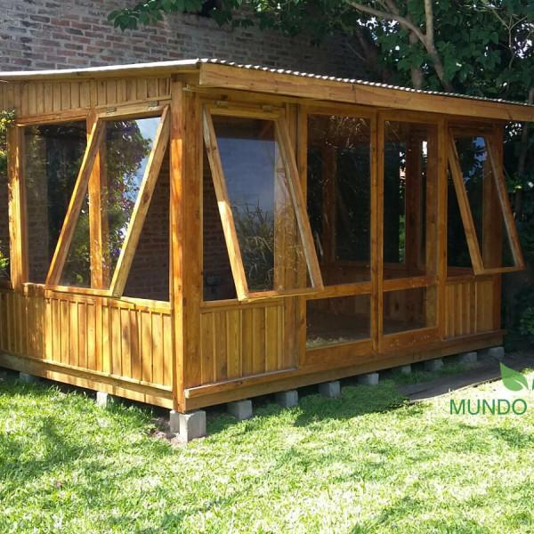 Mundo garden jard n de invierno living exterior for Galpon de madera para jardin