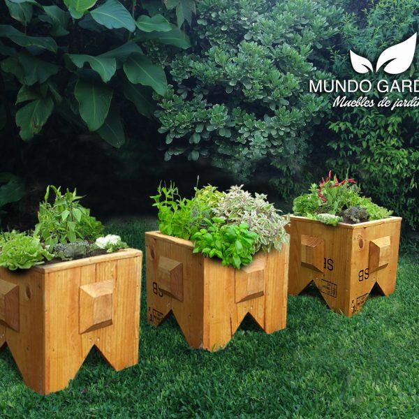 Muelita Porta Maceta Mundo Garden Huerta Urbana Organica